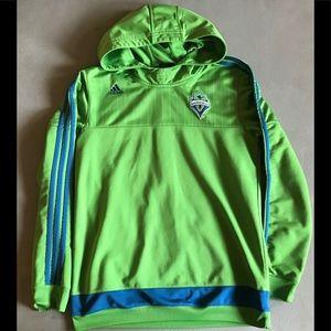 Seattle Sounders Adidas hoodie, Youth Lg  (14/16)